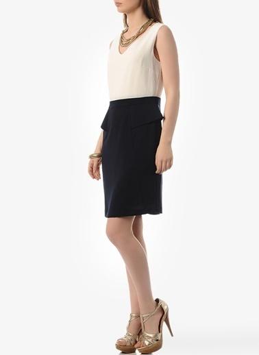 Cotton Bar Elbise Lacivert